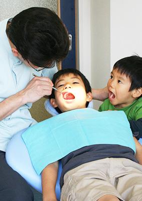 親子診療の様子